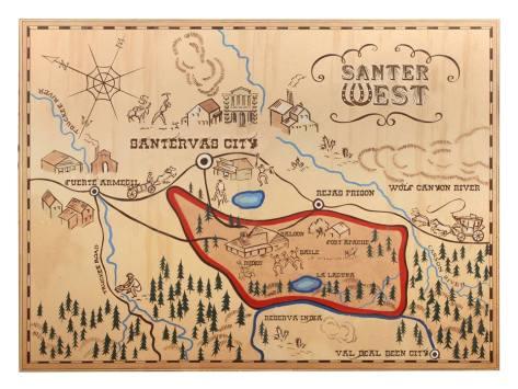 Mapa Santerwest