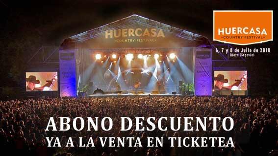 Venta anticipada de entradas para el Huercasa Country Festival a un precio irrechazabale