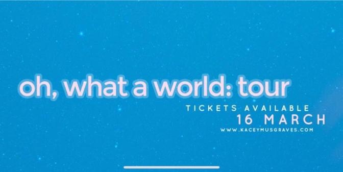 Kacey Musgraves anuncia gira mundial con paso por Holanda, Reino Unido e Irlanda