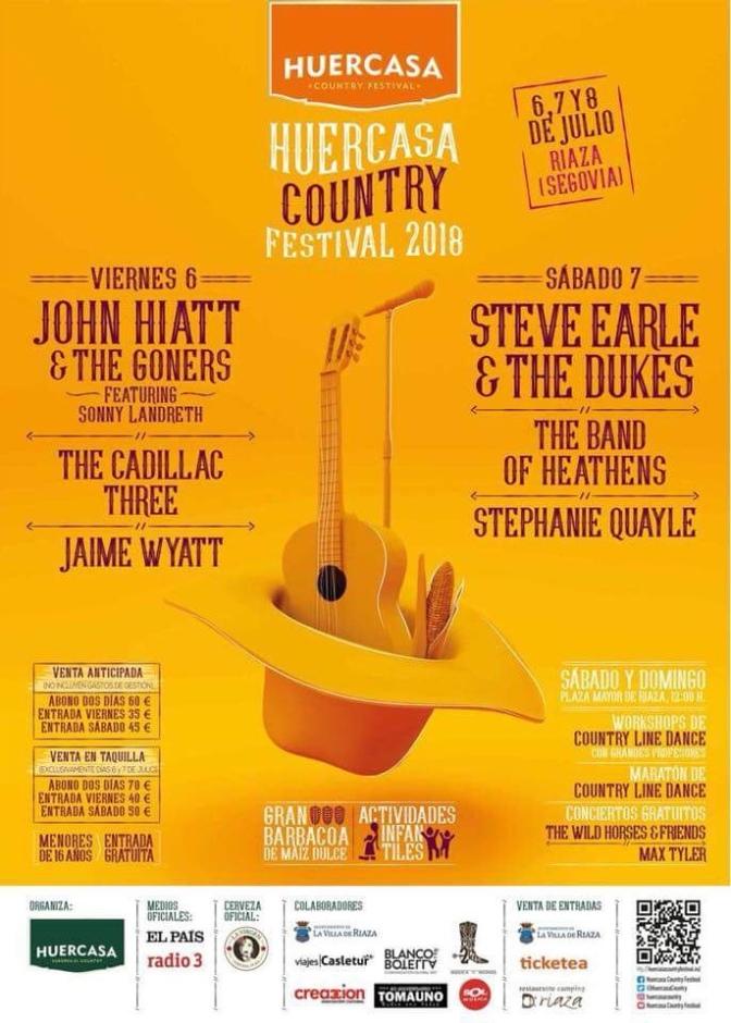 Revelado el cartel del Huercasa Country Festival 2018