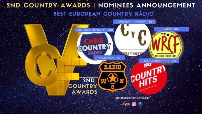The Barroom Buddies Band y Carretera y Country Radio nominados en los premios del Voghera Country Festival